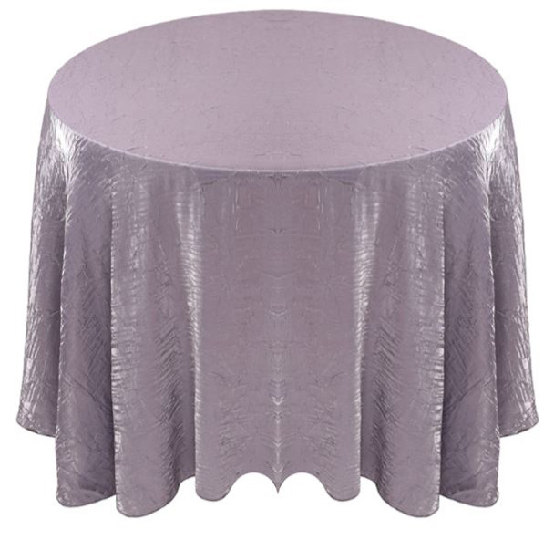 Shimmer Crush Fabric Tablecloth Linen-Grey