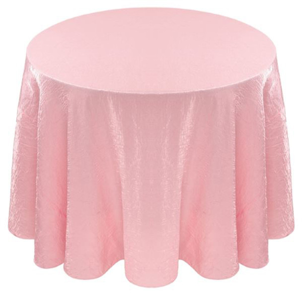 Shimmer Crush Fabric Tablecloth Linen-Blush Pink