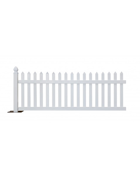 Rhino Portable Vinyl Picket Fence Kit-White (10 feet sections)