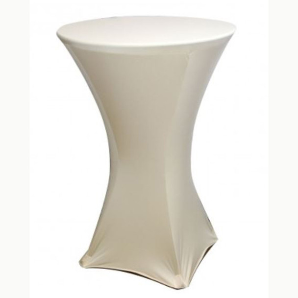 "Spandex Cocktail Table Linens for 30"" Round Top in 42""Height-Champagne"