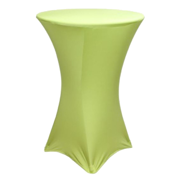 "Spandex Cocktail Table Linens for 30"" Round Top in 42""Height-Sage"