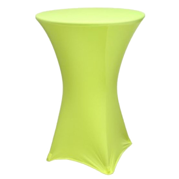 "Spandex Cocktail Table Linens for 30"" Round Top in 42""Height-Yellow"