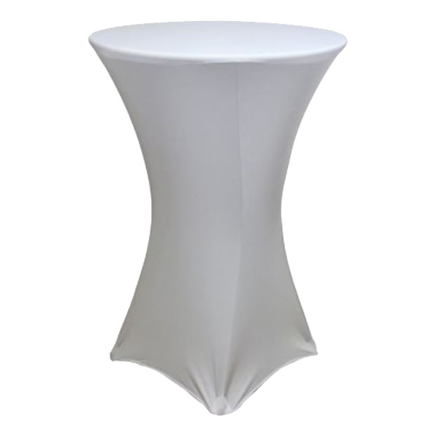 "Spandex Cocktail Table Linens for 30"" Round Top in 42""Height-Silver"