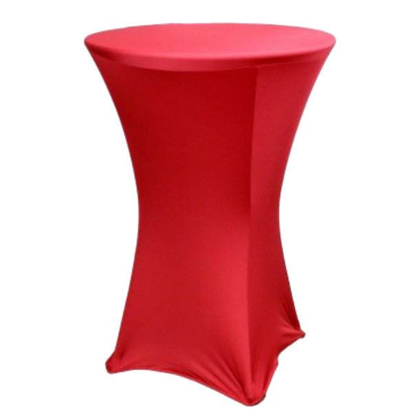 "Spandex Cocktail Table Linens for 30"" Round Top in 42""Height-Claret"