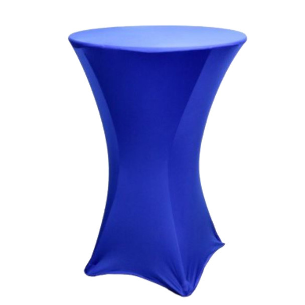 "Spandex Cocktail Table Linens for 30"" Round Top in 42""Height-Royal Blue"