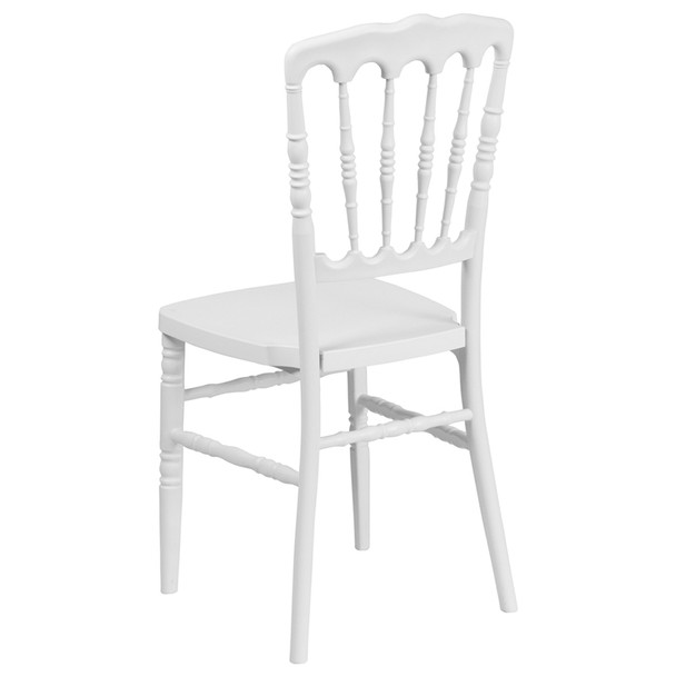 Napoleon Resin Stacking Chair-White