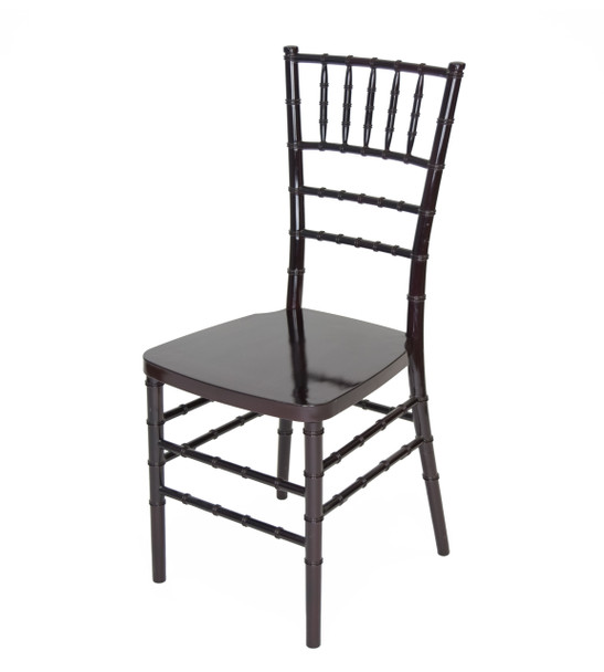 Classic Series Resin Chiavari Chairs with Steel Core-Mahogany