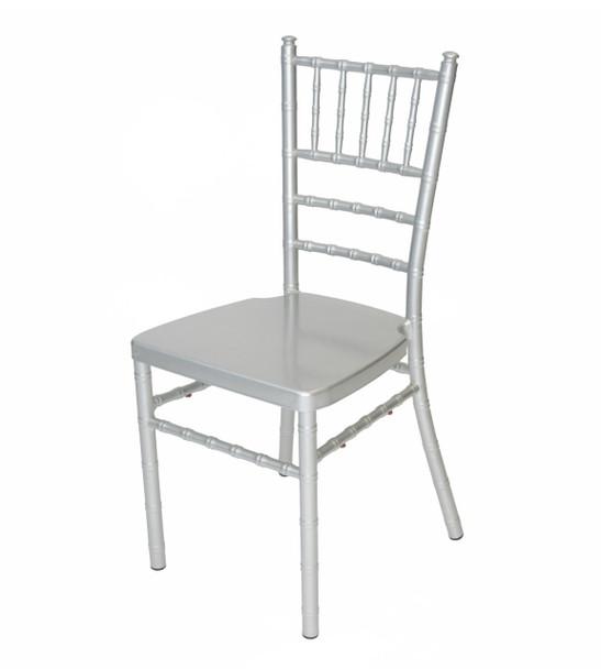Classic Series Aluminum Chiavari Chair-Silver