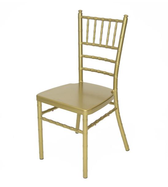Classic Series Aluminum Chiavari Chair-Gold