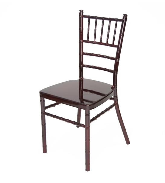 Classic Series Aluminum Chiavari Chair-Mahogany