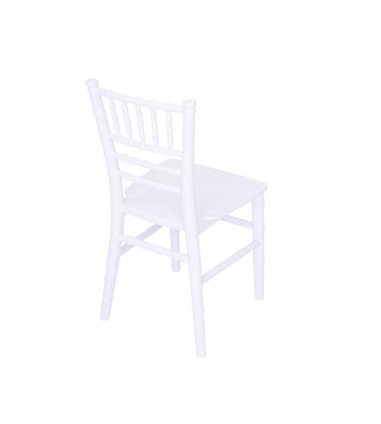 Classic Series White Kids Resin Chiavari Chair with Steel Core