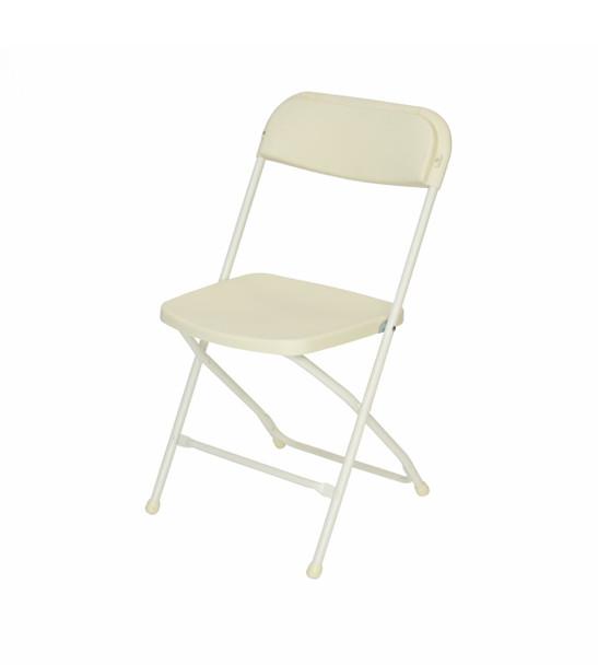 Plastic Folding Chair Premium Rental Style-Ivory
