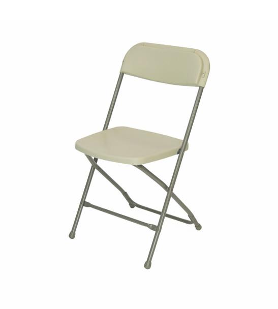 Plastic Folding Chair Premium Rental Style-Beige