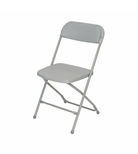 Plastic Folding Chair Premium Rental Style-Gray