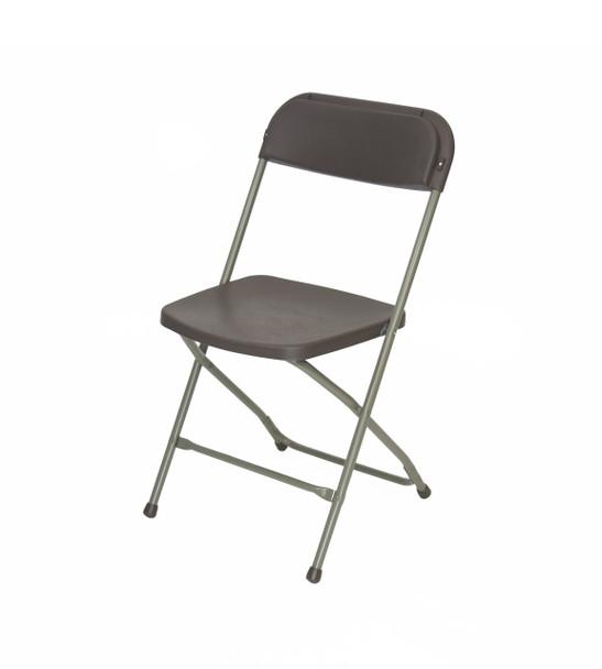 Plastic Folding Chair Premium Rental Style-Chocolate
