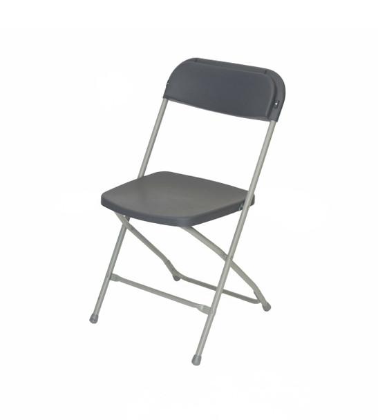 Plastic Folding Chair Premium Rental Style-Charlcoal