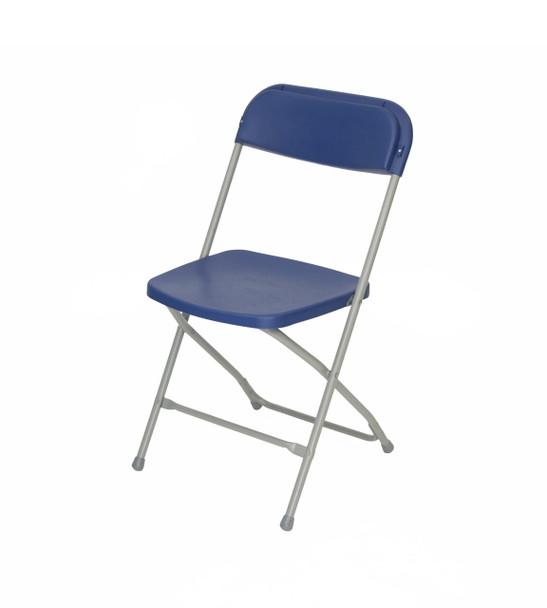 Plastic Folding Chair Premium Rental Style-Blue