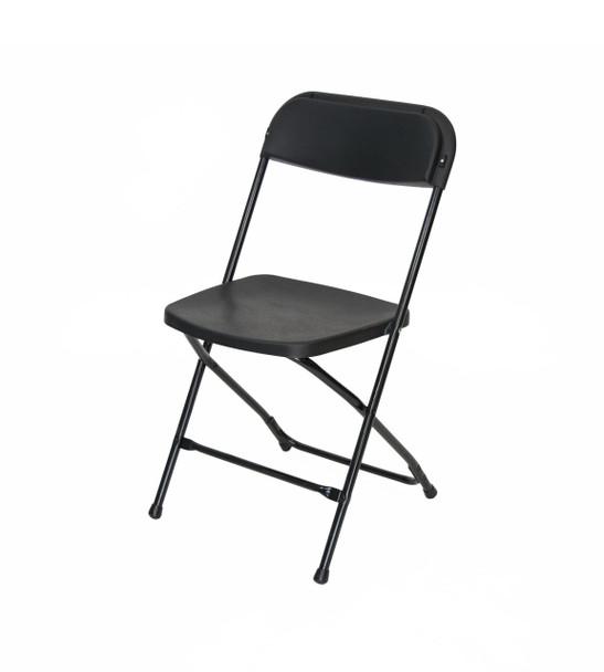 Plastic Folding Chair Premium Rental Style-Black