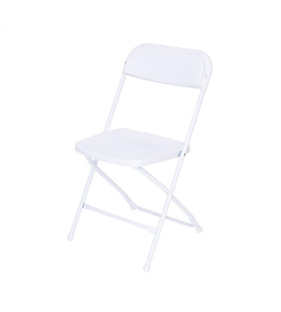 Plastic Folding Chair Premium Rental Style-White