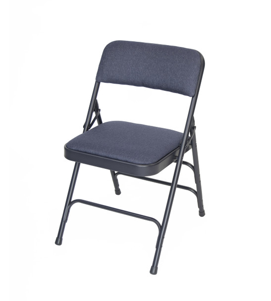 Rhino Fabric Padded Folding Chair Quad Hinged Triple