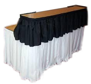 8FT Portable Bar Top Riser Bundle   Includes Table, Riser, Skirting, And  Clips   FoldingChairsandTables.com