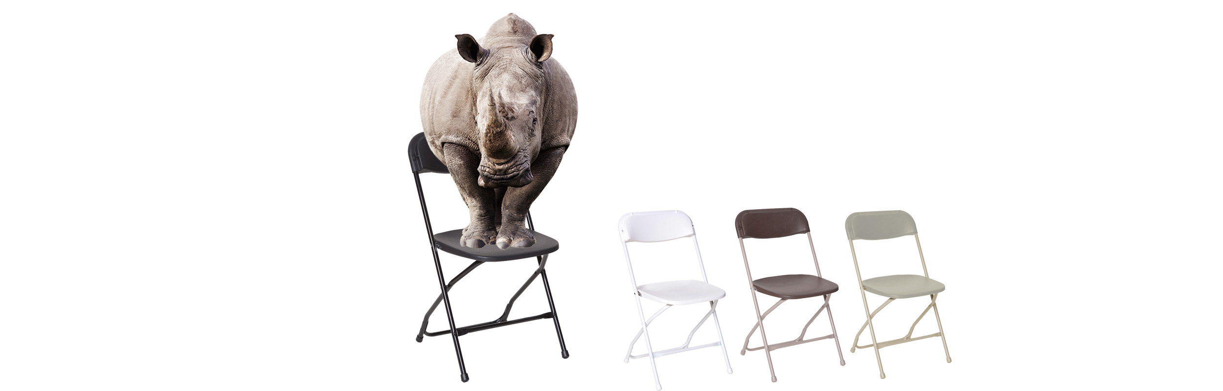 Rhino Plastic Folding Chair