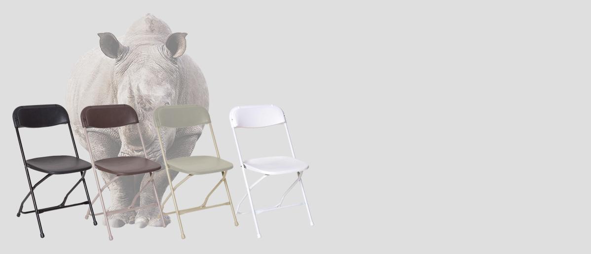 Rhino Plastic Folding Chairs