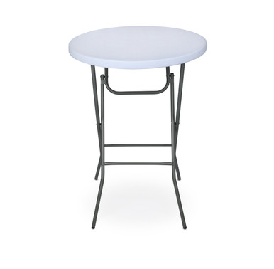 Classic series 32 round plastic folding high top cocktail for Height of cocktail tables