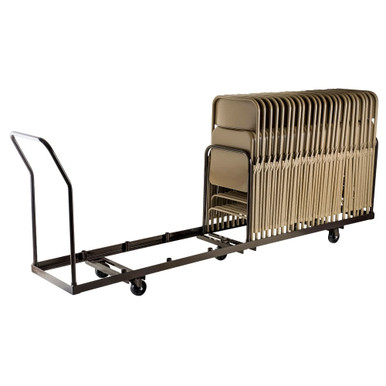 50 Capacity Linear Storage And Transport Folding Chair Dolly By National Public