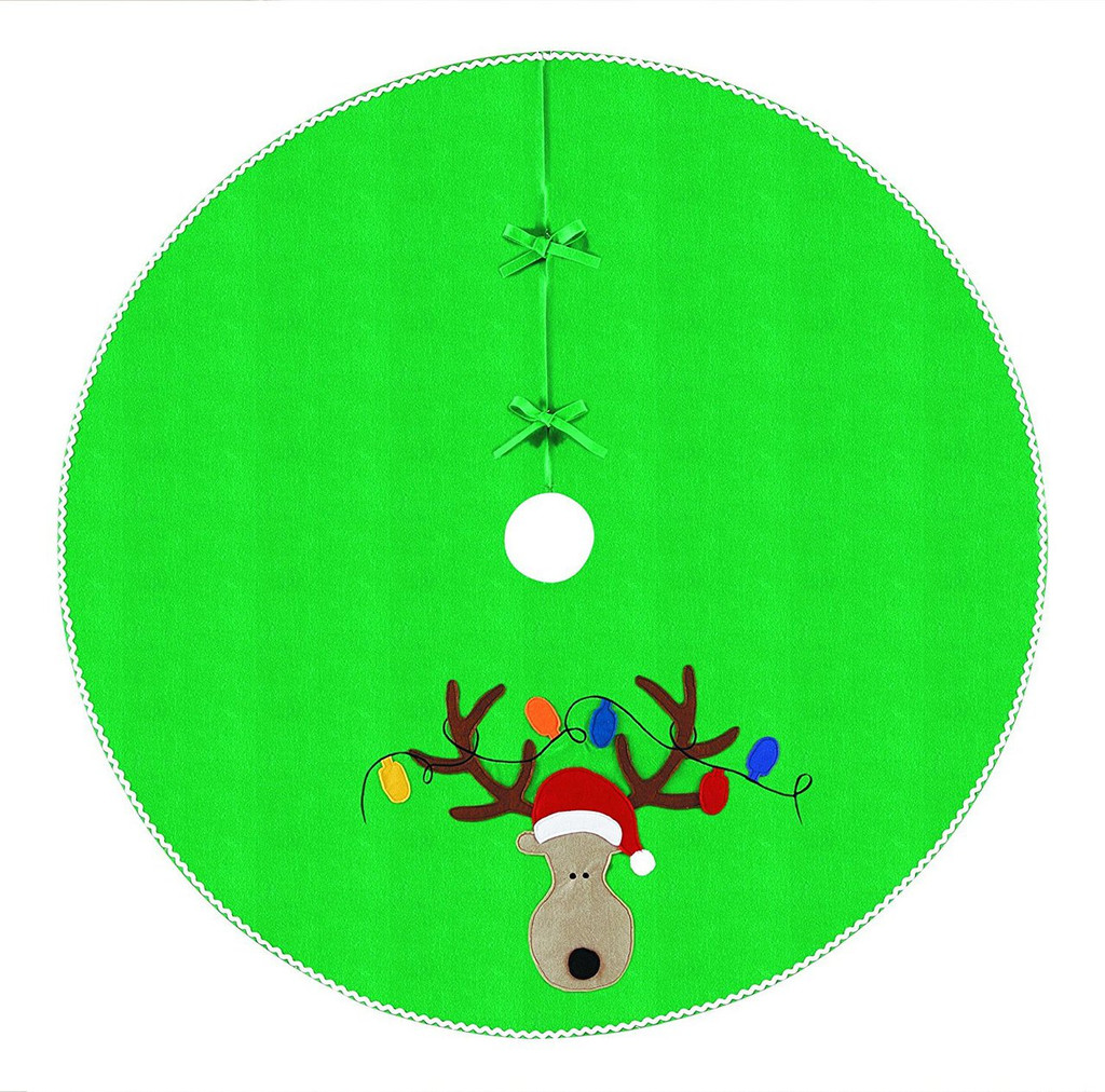 "54"" Reindeer Head With Lights Tree Skirt"