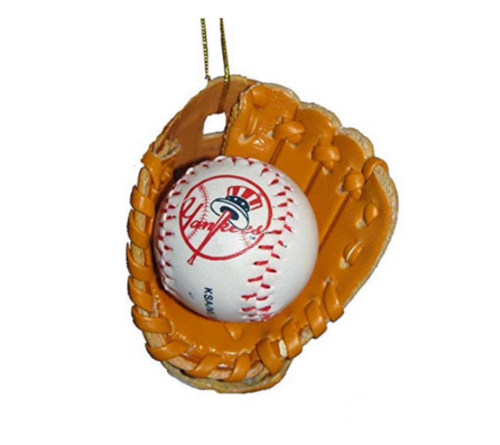 New York Yankees Glove with Ball Ornament