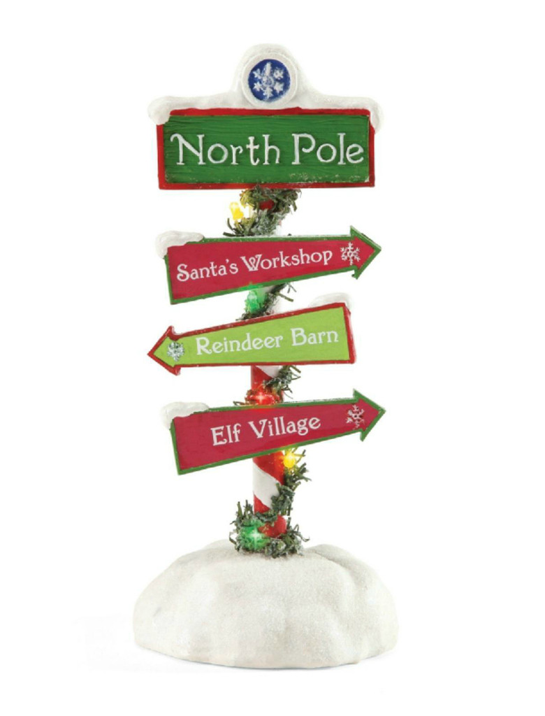 Santa's North Pole Sign