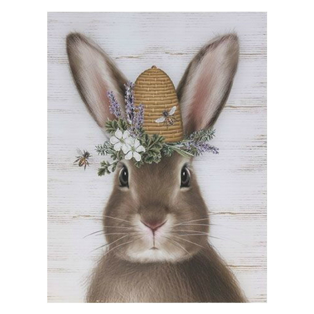 "16"" Spring Time Bunny Wall Art"