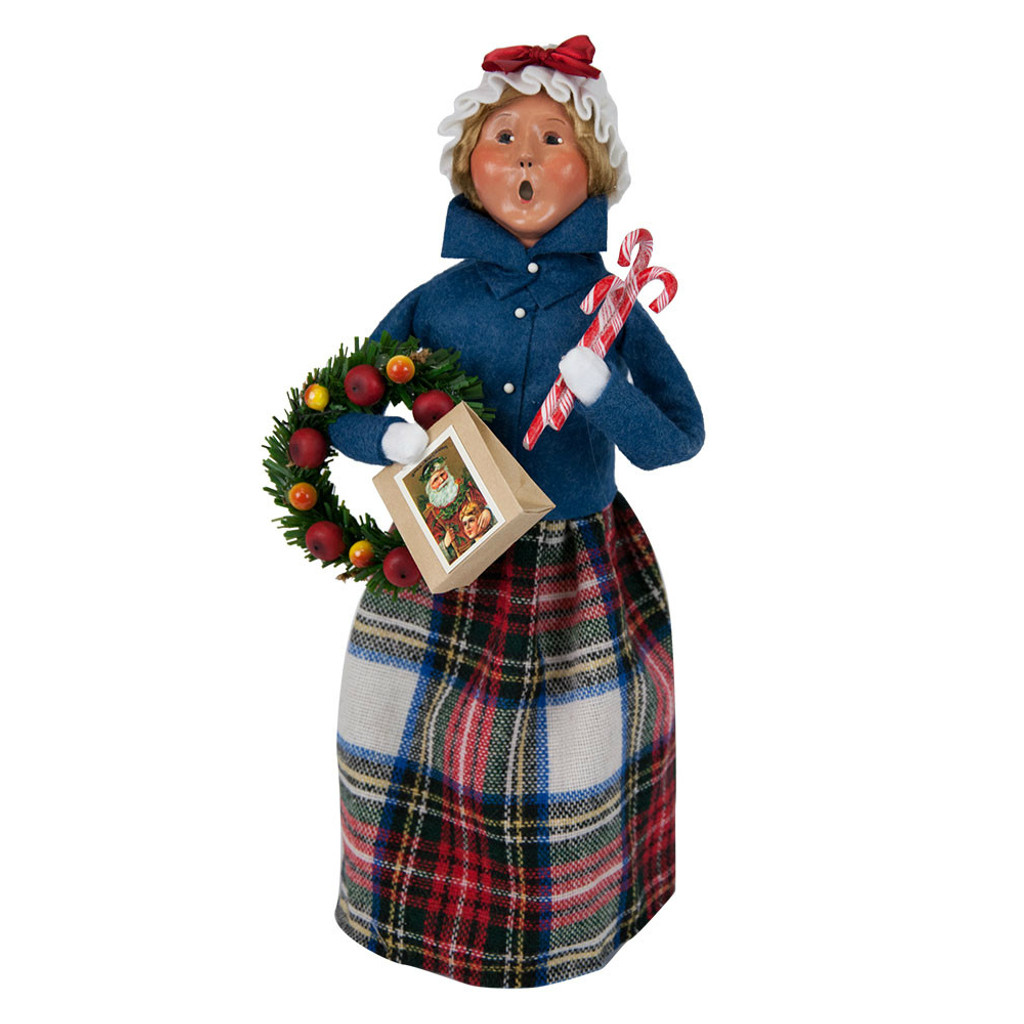 Byers' Choice - Clark Woman Blue Shopper Caroler 2018