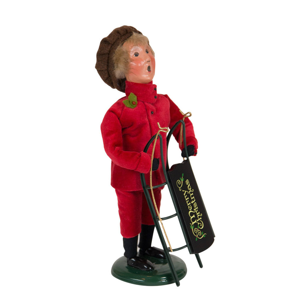 Byers' Choice - Victorian Boy with Sled Caroler 2018