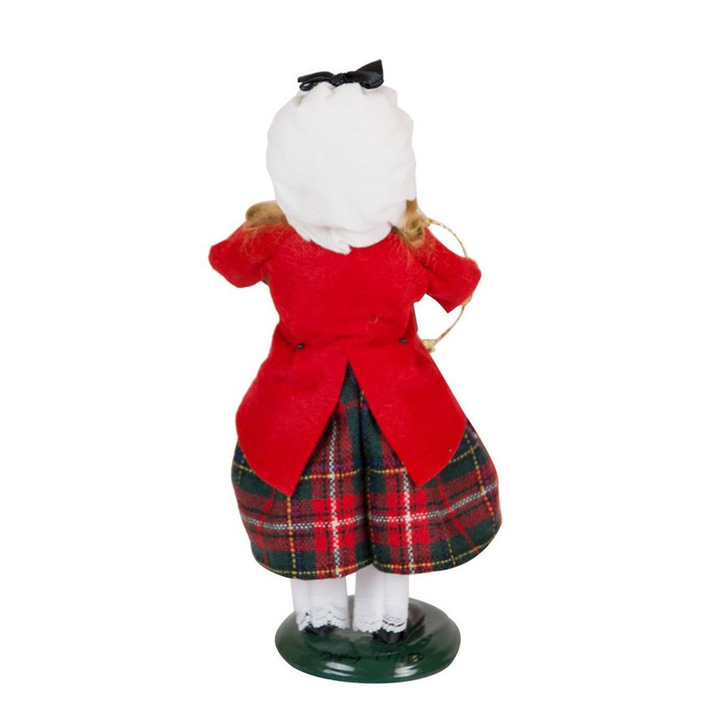 Byers' Choice - Glass Ornament Girl Caroler  2018