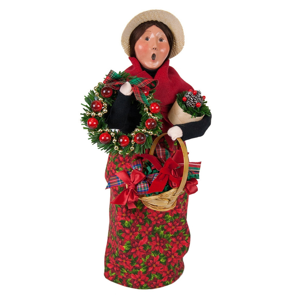 Byers' Choice - Wreath Vendor Caroler 2018