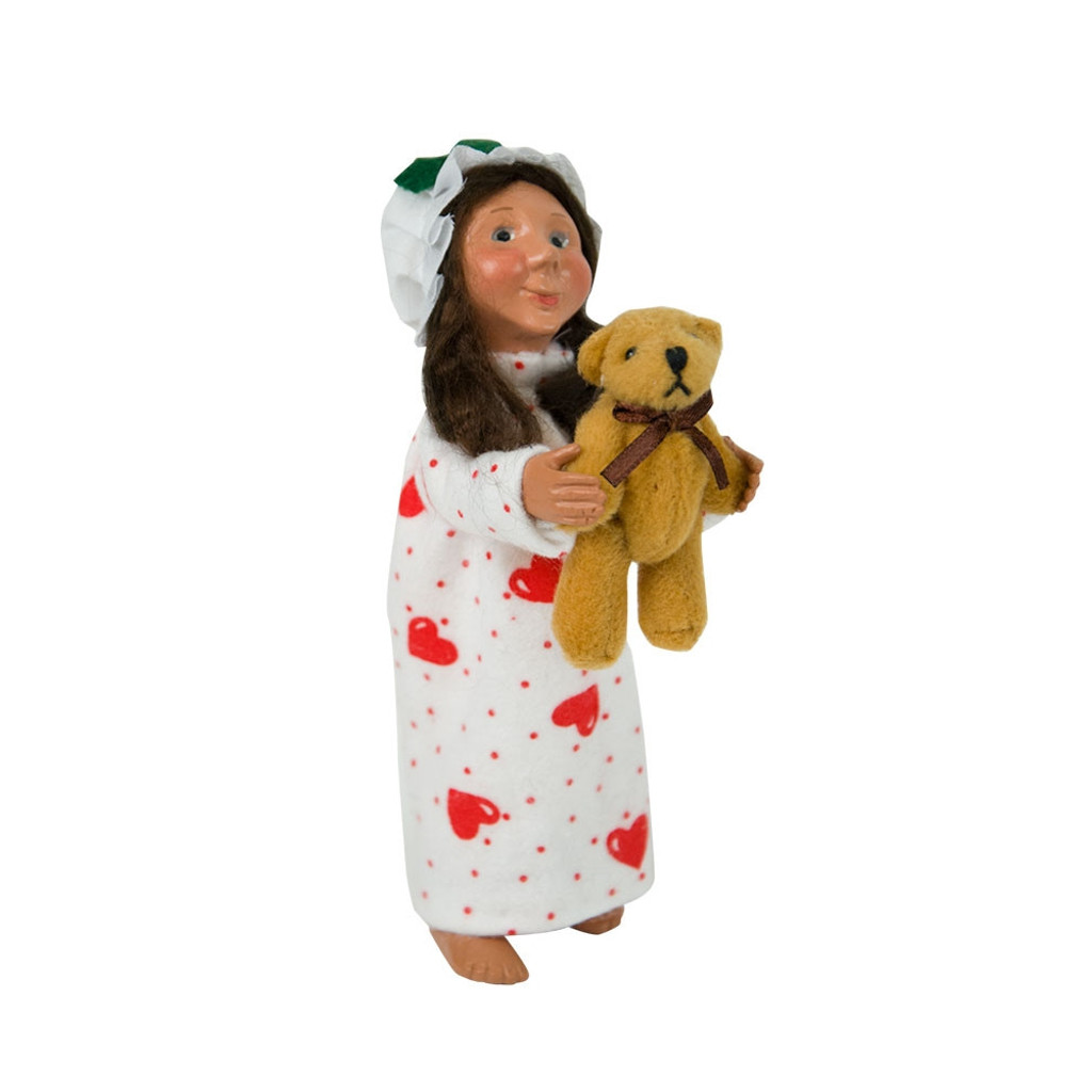 Byers Choice Toddler Girl with Teddy side image