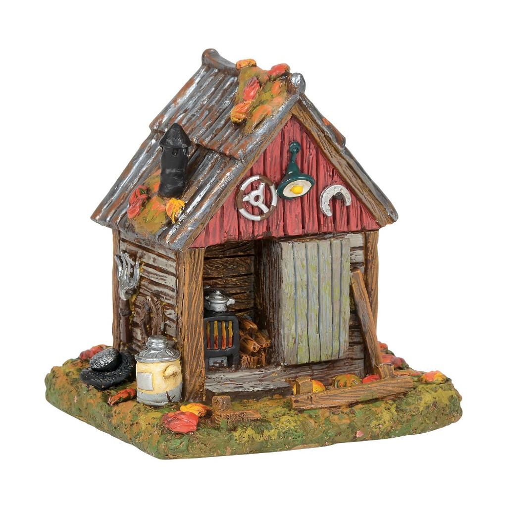 department 56 halloween village backwoods tool shed 2018