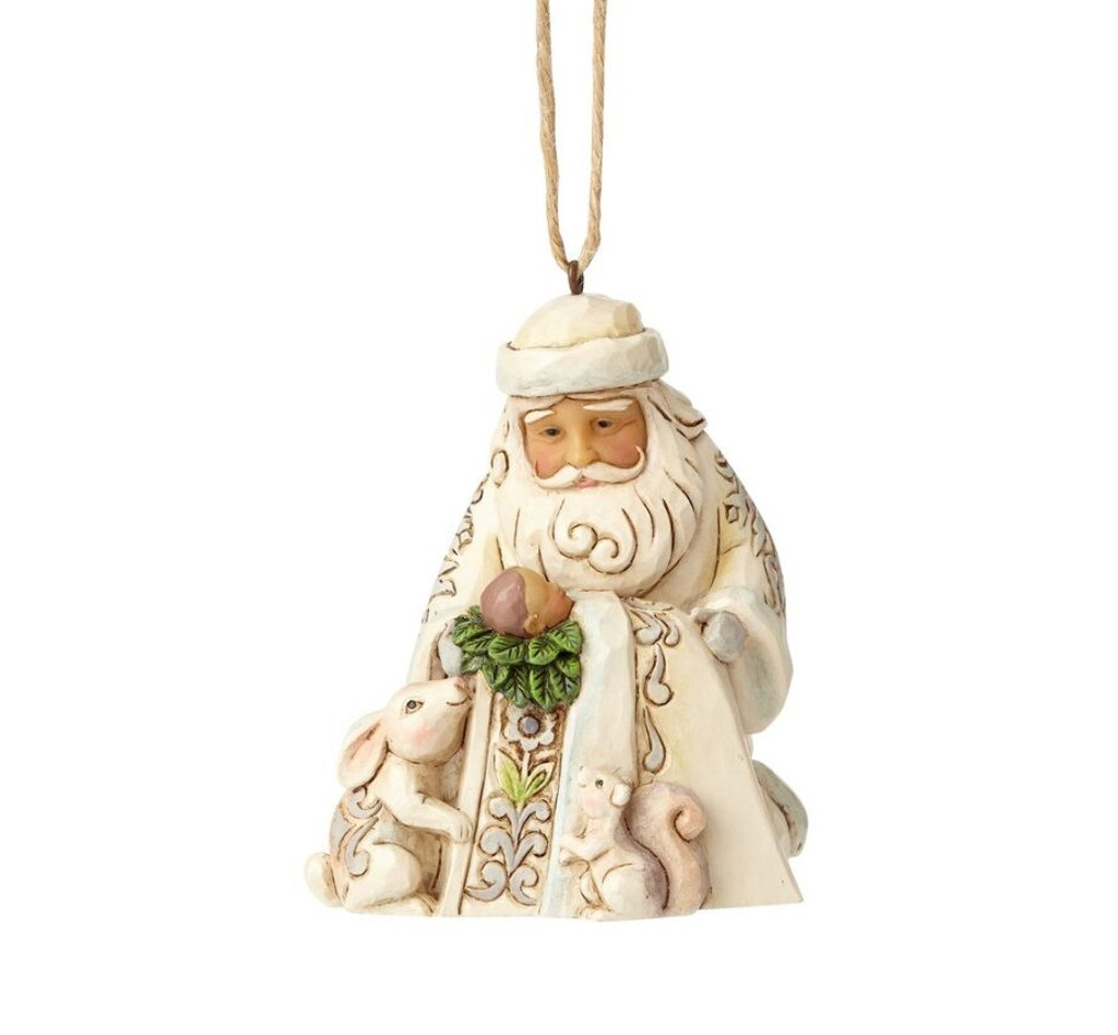 Jim Shore Heartwood Creek -Woodland Santa with Baby Ornament