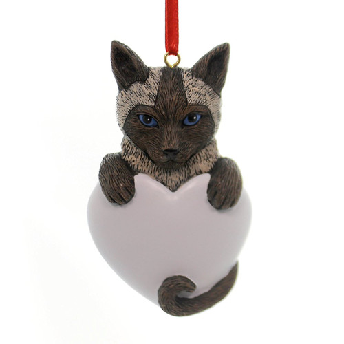 Personalizable -  Siamese Cat Ornament