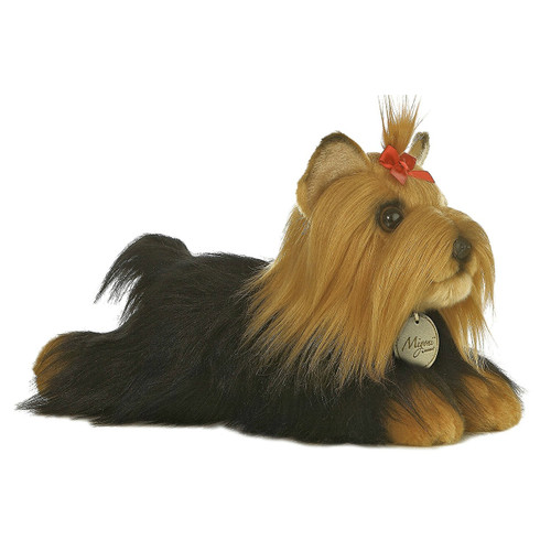 Aurora World MiyonI Yorkshire Terrier with Brush Plush Toy 11""