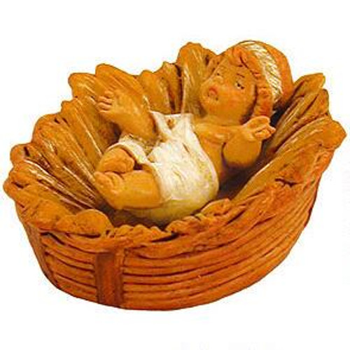 Fontanini 5-Inch scale Baby Jesus in Crib