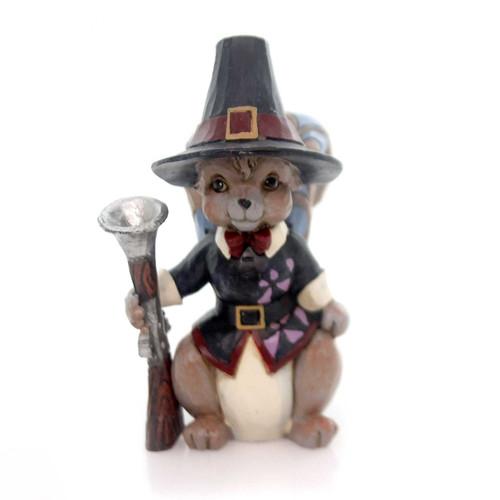 Jim Shore Heartwood Creek -  Mini Pilgrim Squirrel