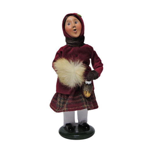Byers Choice - Burgundy and Gold Family Girl