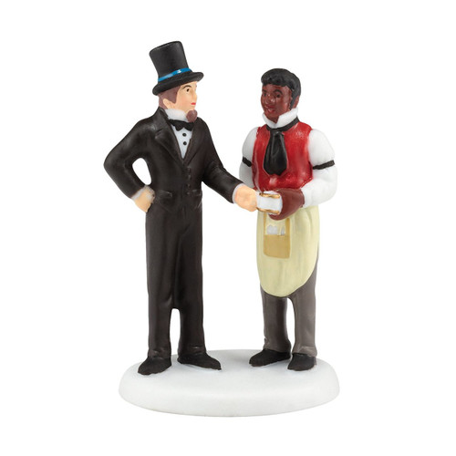 Department 56- New England Village -Another Satisfied Customer Accessory