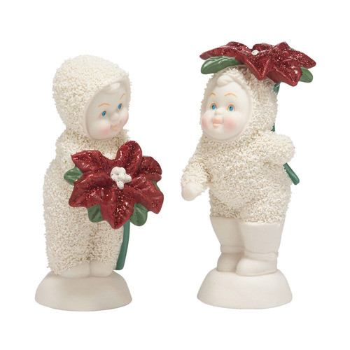 Snowbabies Baby Blossoms Set of 2
