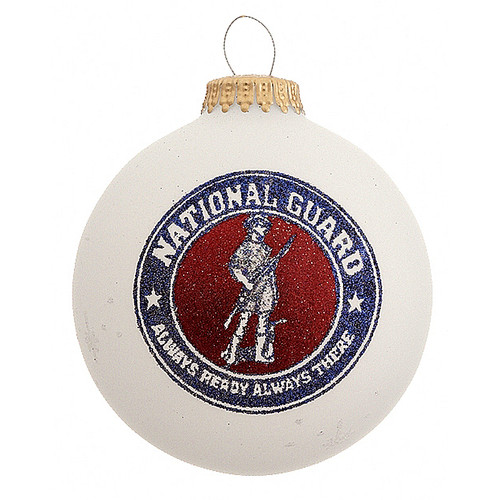 National Guard Ornament- Heart Gifts by Teresa- USA Made