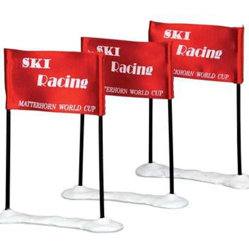 Lemax- Ski Racing Flag Set of 3
