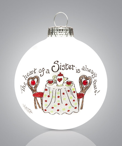 Sister Teapot Ornament- Heart Gifts by Teresa - USA Made